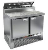 Стол охлаждаемый для пиццы HICOLD PZE2-11/GN (1/6H) камень