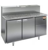 Стол охлаждаемый для пиццы HICOLD PZ2-11/GN (1/6) гранит