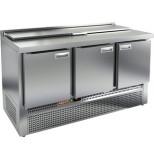 Стол холодильный для салатов HICOLD SLE1-111GN (1/3) с крышкой