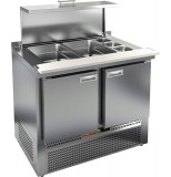 Стол холодильный для салатов HICOLD SLE3-11GN полипропилен