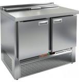 Стол холодильный для салатов HICOLD SLE2-11GN (1/6) с крышкой