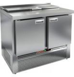 Стол холодильный для салатов HICOLD SLE1-11GN (1/3) с крышкой