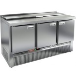 Стол холодильный для салатов HICOLD SLE1-111GN (1/3) без крышки