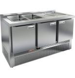 Стол холодильный для салатов HICOLD SLE3-111GN (без крышки)